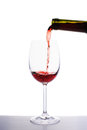 Red Wine Pouring Into Wine Glass Stock Photo - 28711520