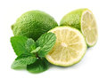 Lobes Of Lime With Mint Stock Images - 28721014