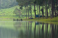 Camping At Pang Ung. Beautiful Forest Lake In The Morning Stock Images - 28722094