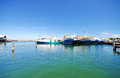 Docked Boats At Fremantle Marina With Blue Sky Stock Photography - 28725802
