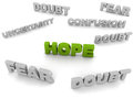 Hope Amongst Doubt Stock Image - 28729131