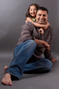 Happy East Indian Man With His Daughter Royalty Free Stock Image - 28729916