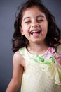 East Indian Girl Laughing Stock Photography - 28729952