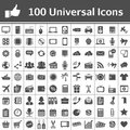 Universal Icon Set. 100 Icons Royalty Free Stock Photography - 28733487