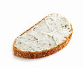 Bread With Fresh Cream Cheese Stock Photo - 28733820