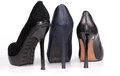 Back View Of Three Ladies Stiletto Shoes Stock Image - 28738731