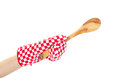 Oven Mitt Arm With Spoon Stock Image - 28739251
