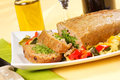 Spinach Meatloaf Stock Image - 28744511