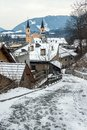 Alley With View Of Brunico Royalty Free Stock Image - 28746406