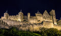 Carcassone Medieval Castle Night View. Royalty Free Stock Images - 28751139