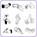 Hand Gestures - Business Set. Vector Illustration. Stock Photography - 28759712