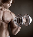 Exercising With Dumbbell Royalty Free Stock Photo - 28761995