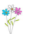 Three Flowers Royalty Free Stock Images - 28769869