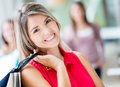 Lovely Shopping Woman Stock Photo - 28771790