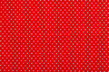 Red Polka Dot Fabric Royalty Free Stock Photography - 28774227