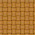 Seamless Woven Wicker Rail Fence Background Stock Images - 28783834