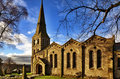Landscape View Of Christ Church, Chatburn. Stock Image - 28786621