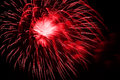 Red Fireworks In The Night Sky Royalty Free Stock Image - 28787176