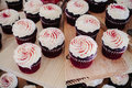 Red Velvet Cupcakes Royalty Free Stock Photo - 28794275