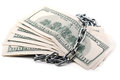 Dollars Stack With Chains Stock Photo - 28803500