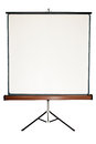 Blank Screen On A Tripod Stock Photography - 28804862