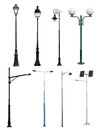 Lamp Posts Collection Royalty Free Stock Photo - 28806915
