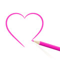 Hand Drawn Heart Royalty Free Stock Images - 28814059