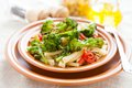 Nutritious Pasta With Roasted Vegetables Stock Photos - 28815803