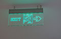 Exit Sign With Green Backlight Royalty Free Stock Photography - 28826367