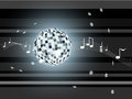 Vector Illustration With Mirror Ball. Royalty Free Stock Photos - 28827698