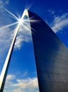 St. Louis Arch And Sun Reflection Royalty Free Stock Photo - 28827945