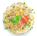 Chinese Egg Fried Rice Overview Royalty Free Stock Photography - 28837627