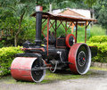 Old Steam Roller Machines For Laying Of Asphalt Stock Photography - 28838602