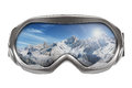 Ski Goggles With Reflection Of Mountains Royalty Free Stock Photos - 28839278