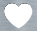 Valentines S Day Heart With Metal Texture On The White Stock Photo - 28841140