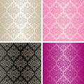Seamless Wallpapers - Set Of Four Colors. Stock Photos - 28842863
