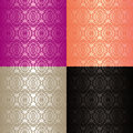 Seamless Wallpapers - Set Of Four Colors. Royalty Free Stock Photography - 28842867