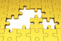 Gold Puzzle Pieces Stock Images - 28844614