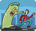 Man Chased By Monster Royalty Free Stock Image - 28847336