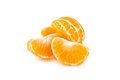 Slices Of Tangerine On White Background Stock Images - 28847454