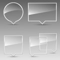 Glass Speech Bubbles Stock Images - 28853744