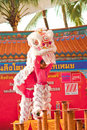BANGKOK,/THAILAND-JANUARY 20:  Lion Dance Dressing During Parade In Chinese New Year Celebrations On January 20, 2013 Royalty Free Stock Images - 28854719