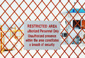 Restricted Area Royalty Free Stock Image - 28868046