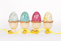 Marble Easter Eggs In Egg Cups Royalty Free Stock Image - 28868066