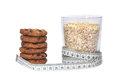 Oatmeal And Cookies Royalty Free Stock Photography - 28870227