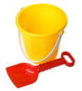 Toy Bucket And Scoop Royalty Free Stock Images - 28873919