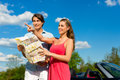 Young Couple With Cabriolet In Summer On Day Trip Stock Images - 28876114