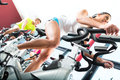 Young People Spinning In The Fitness Gym Stock Images - 28876424