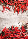 Chili Peppers Frame Royalty Free Stock Photography - 28890287