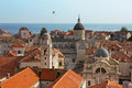 Dubrovnik Old City Cathedral View With The Sea Stock Photo - 28891080